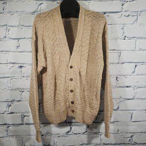 VTG Cardigan Sweater Chunky Fisherman Knit USA